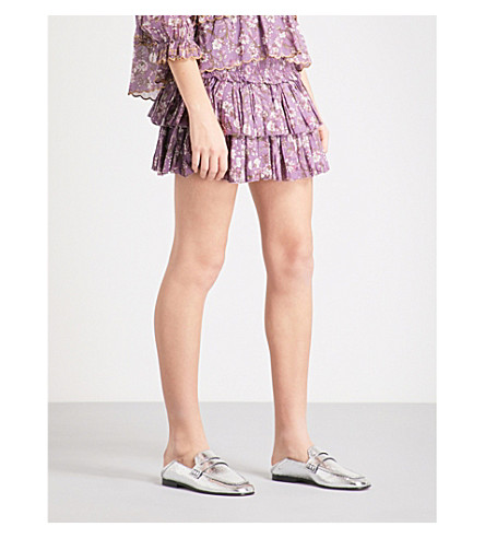 ISABEL MARANT ETOILE Naomi high-rise cotton mini skirt (Violet