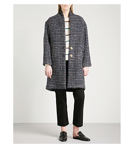 ISABEL MARANT ETOILE Jaren boucle coat (Midnight