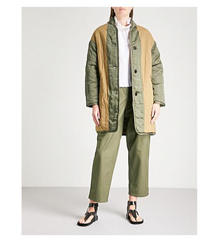 ISABEL MARANT ETOILE Haley reversible quilted cotton coat (Khaki