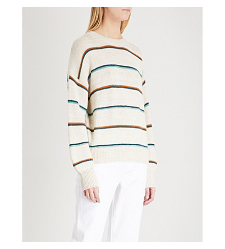 ISABEL MARANT ETOILE Gatlin striped alpaca-blend jumper (Ecru