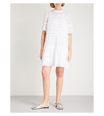 ISABEL MARANT ETOILE Vicky lace-panel cotton dress (White