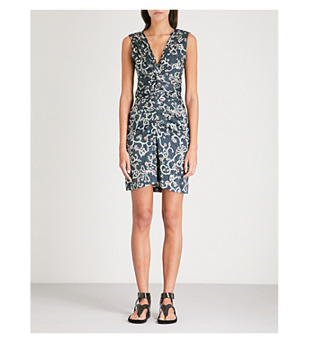 ISABEL MARANT ETOILE Carla floral-print cotton dress (Faded+black