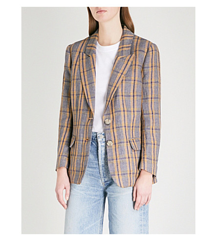 ISABEL MARANT ETOILE Isaure single-breasted linen jacket (Ochre