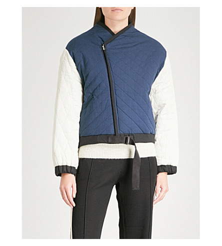 ISABEL MARANT ETOILE Hanae reversible quilted cotton jacket (Midnight