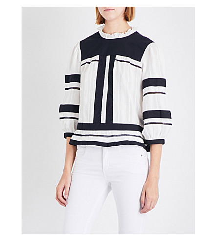 ISABEL MARANT ETOILE Ritz cotton-gauze top (Ecru
