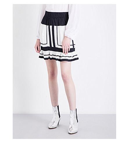 ISABEL MARANT ETOILE Rhoda striped cotton mini skirt (Ecru