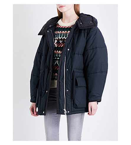 ISABEL MARANT ETOILE Bulle oversized cotton-twill down coat (Black