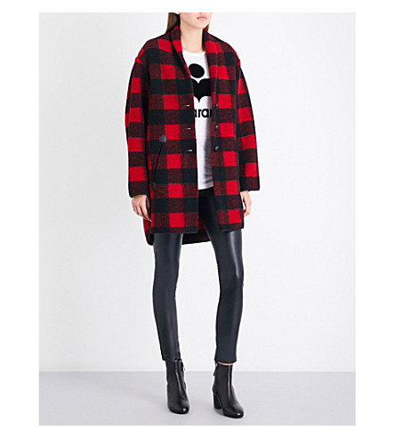 ISABEL MARANT ETOILE Gino relaxed-fit wool-blend coat (Red