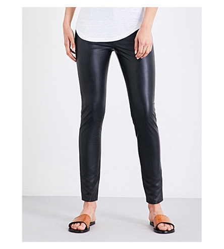 ISABEL MARANT ETOILE Zeffery high-rise faux-leather pants (Black