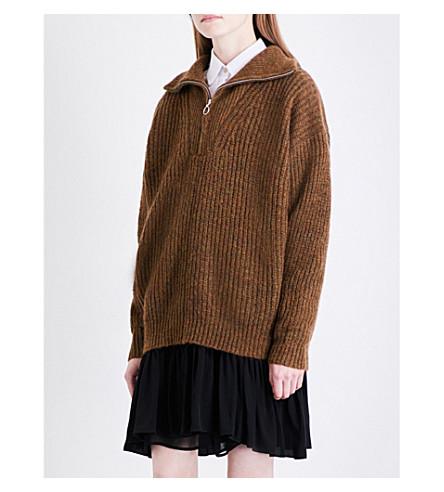 ISABEL MARANT ETOILE Declan oversized knitted jumper (Bronze
