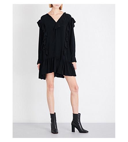 ISABEL MARANT ETOILE Wedy crepe mini dres (Black