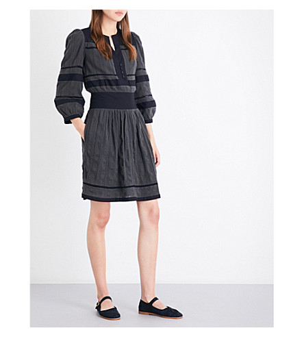 ISABEL MARANT ETOILE Ramsey cotton midi dress (Bronze