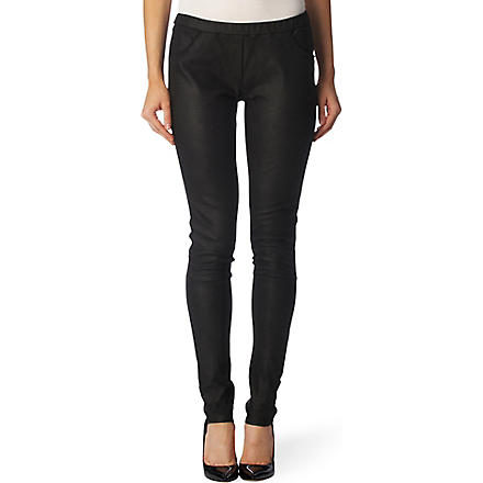 IRO Nancy leather trousers (Black