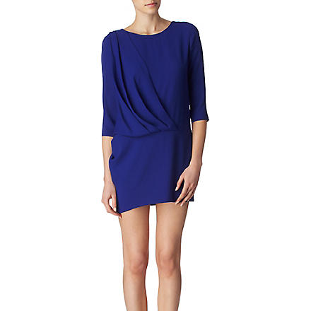 IRO Wallis draped dress (Bleu
