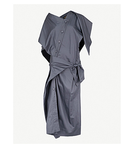 VIVIENNE WESTWOOD ANGLOMANIA Thaw cotton shirt dress (Navy