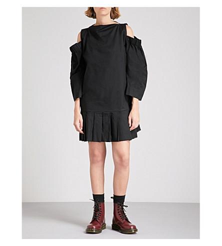 VIVIENNE WESTWOOD ANGLOMANIA Altitude cold-shoulder cotton mini dress (Black