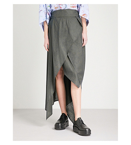VIVIENNE WESTWOOD ANGLOMANIA Temperance woven wrap skirt (Navy