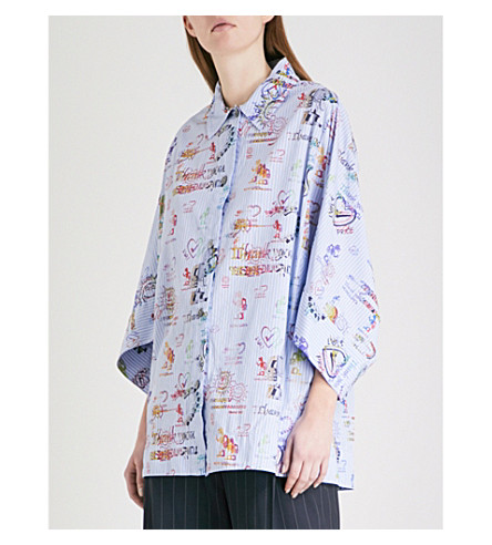 VIVIENNE WESTWOOD ANGLOMANIA New Hero cotton shirt (Blue