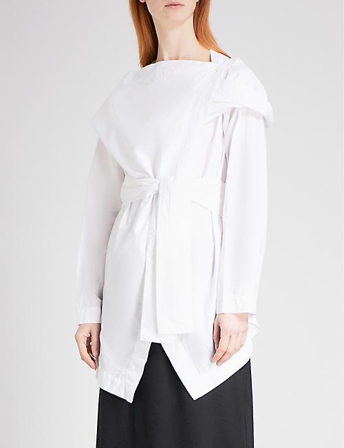 VIVIENNE WESTWOOD ANGLOMANIA Wrap-front cotton shirt
