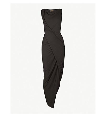 VIVIENNE WESTWOOD ANGLOMANIA Vian draped jersey dress (Black