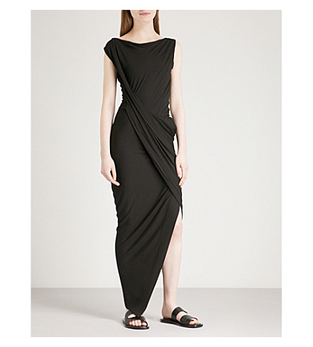VIVIENNE WESTWOOD ANGLOMANIA Vian draped jersey dress (Black