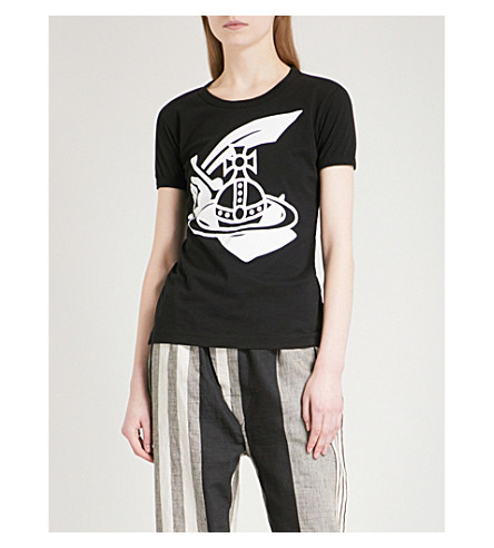 VIVIENNE WESTWOOD ANGLOMANIA Cutlass cotton-jersey T-shirt (Black