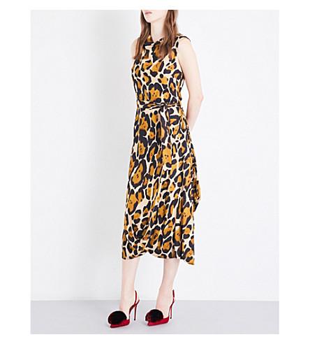 VIVIENNE WESTWOOD ANGLOMANIA Leopard-print sleeveless woven dress (Leopard