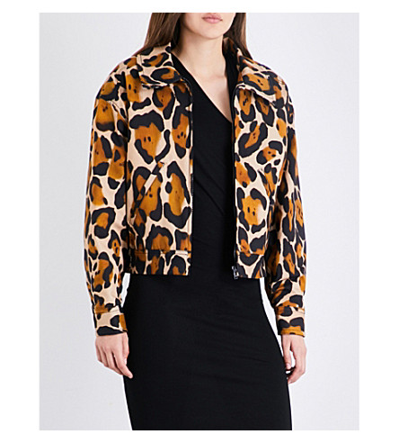 ANGLOMANIA Goldfinch leopard-print stretch-cotton jacket (Leopard