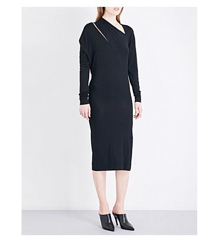 VIVIENNE WESTWOOD ANGLOMANIA Timans asymmetric-neck stretch-jersey dress (Black