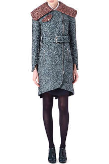 CARVEN Fancy Drape tweed coat