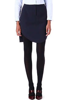 CARVEN Contrast-hem double-crepe skirt