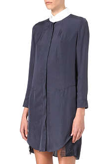 CARVEN Lace-trimmed shirt dress