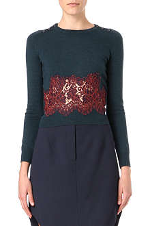 CARVEN Lace-trimmed jumper