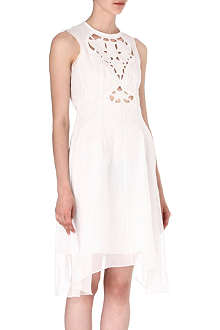 CARVEN Wedding organza sleeveless dress