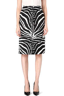CARVEN Zebra-print pencil skirt