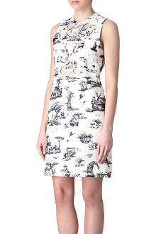CARVEN Cut-out safari print dress