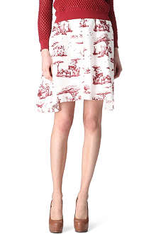 CARVEN Safari-print skirt