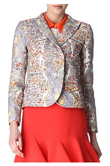 CARVEN Map-print blazer