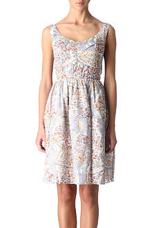 CARVEN Map-print dress