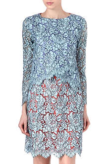 CARVEN Contrast-back lace top