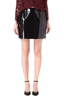 CARVEN Coated molleton skirt