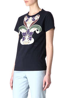 CARVEN Embroidered print t-shirt