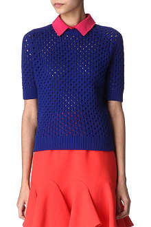 CARVEN Contrast-collar jumper