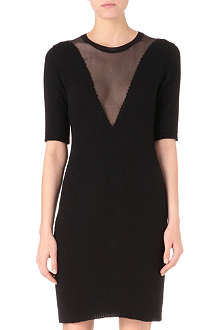 CARVEN Angora-blend knit dress