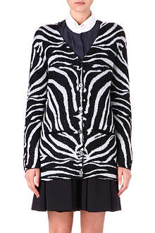 CARVEN Zebra knitted cardigan