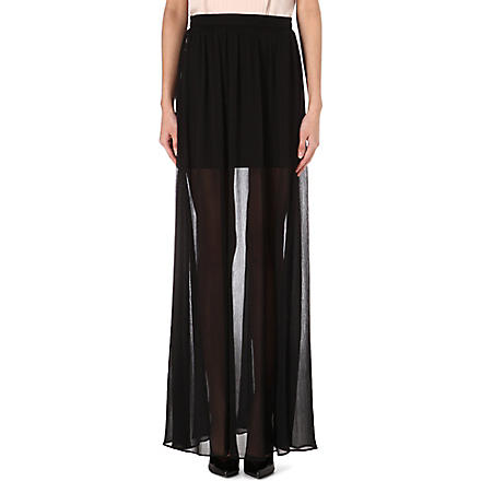 ALICE & OLIVIA Sheer maxi skirt (Black