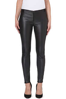 ALICE & OLIVIA Panelled leather leggings