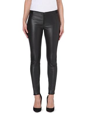 ALICE & OLIVIA Panelled leather leggings