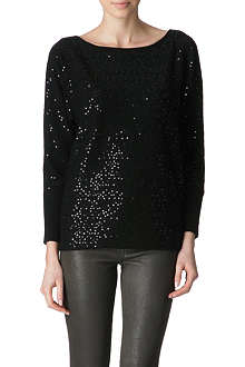 ALICE & OLIVIA Hayley sequinned jumper