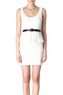 ALICE & OLIVIA Belted peplum dress